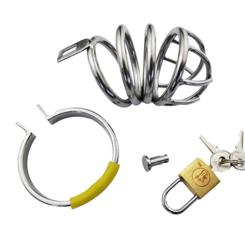 DHMHJH Cerradura de castidad Masculina, Cerradura del pene del Cerradura catéter de la Cerradura del del pene del Equipo de la castidad, estímulo de los Juguetes Que Ligan (Tamaño : 48mm) 653f9d