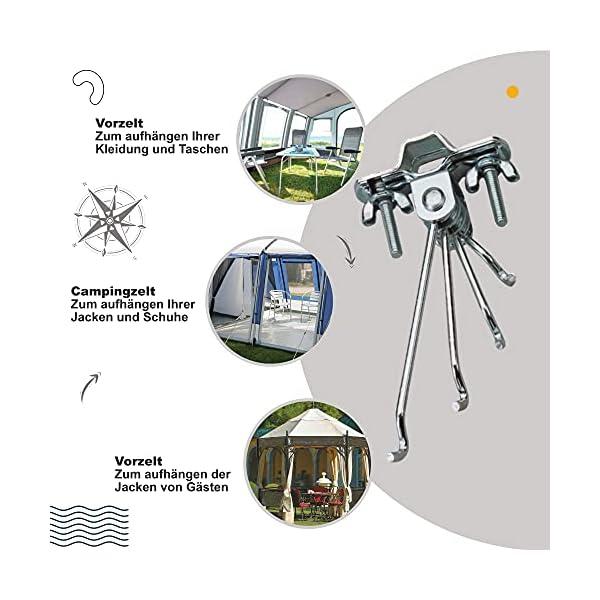 51v0cuzA3ZS Norskskin Kleiderhaken Schraubhaken für Camping Zelt oder Wohnwagen Zeltgestänge