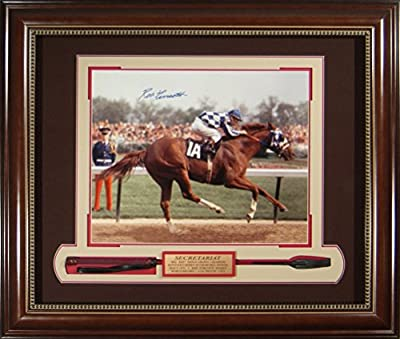 Ron Turcott Signed 1973 Kentucky Derby Framed Secretariat 16