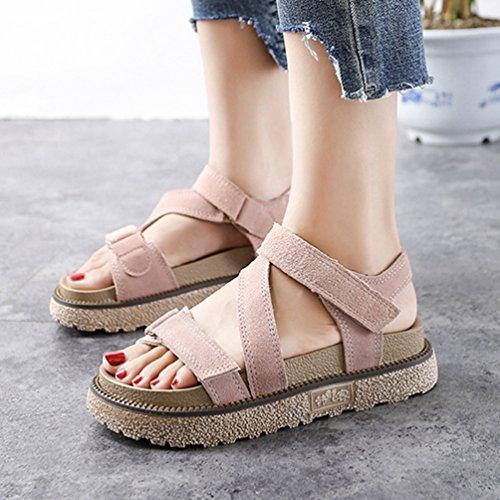 Peep Rose de Confort Footbed Chunky Forme Chaussures Plate Femmes Sandale Cheville Sangle Sandale cale wOXqxXZ6