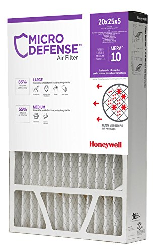 Honeywell Merv 10 Filter - MicroDefense by Honeywell CF508A2025/E Honeywell Filter, 5 Inch, 20x25, Merv 10 Microdefense, 20x25x5