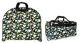 Ever Moda Dinosaur Garment and Duffle Bag Set