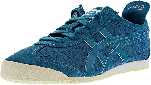 Onitsuka Tiger Women's Mexico 66 Classic Running Shoe, Ocean/Ocean, 9 M US by Onitsuka Tiger