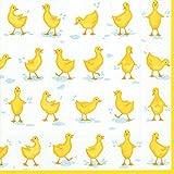 Caspari Entertaining with Luncheon Napkin, Ducks Yellow, 20-Pack