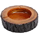 fantastic_008 Round Original Wooden Cigarette Ashtray, Outdoors and Indoors Ash Tray (3.7