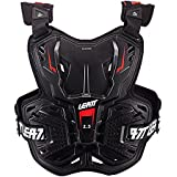 Leatt Light Hard Shell Chest Protector Roost Deflector - Compatible with Leatt Neck Braces (Black)