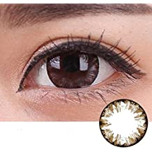Rtiopo Cosplay Large Diameter Contacts Lens Eye Makeup Unisex 5 Colors Available for Both Men & Women (brown)