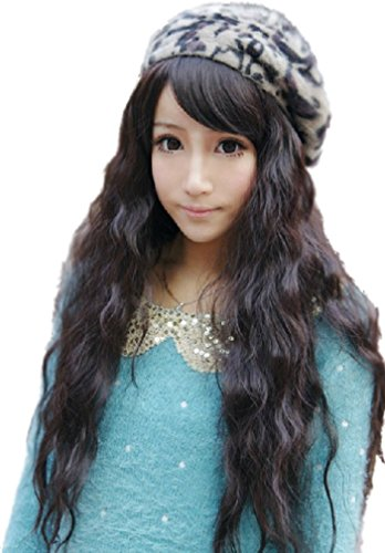 [Cosplay Party Wild up Curly Wavy Hair Full Long Wigs] (Labor Day Parade Costumes For Sale)