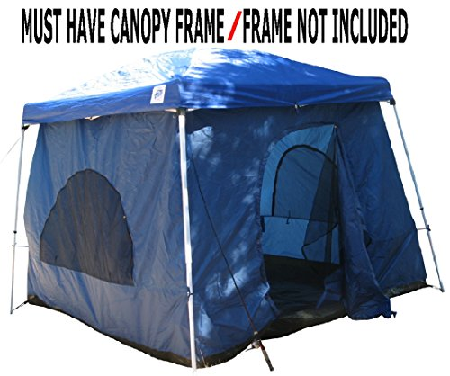 Standing Room 64 Hanging Family Cabin Camping Tent With 8.5 feet of Head Room, 2 Doors & Fast & Easy Set Up.