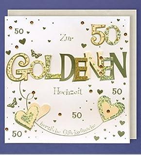 A4 Glückwunschkarte Goldene Hochzeit 50 Hochzeitstag Viele Weitere