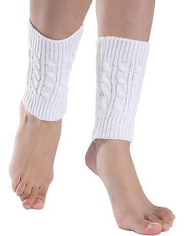 bfb2baabef02 Go Cart Go Women Fall Fashion Knitted Solid Socks Leg Warmer Short Straight  Tube Hemp Flowers