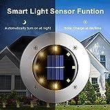 Solar Ground Lights,8 LED Garden Lights