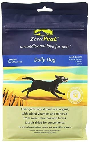 ziwipeak Real Meat grano Free air-dried Dog Food, 16-ounce, Lamb by ziwipeak