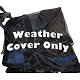 Pet Gear Weather Cover for No-Zip Jogger, AT3 and NV Pet Stroller, Black