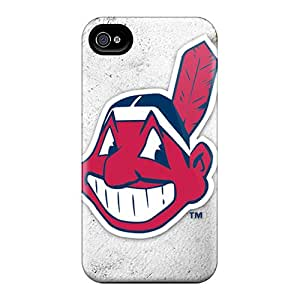 TmallCase Case Cover For Iphone 4/4s - Retailer Packaging Cleveland Indians Protective Case