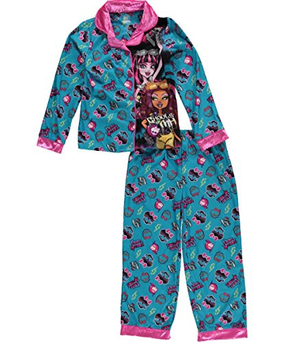 (Monster High Big Girls'Ghouls of MH 2-Piece Pajama Set Boo York, Size M(7/8))