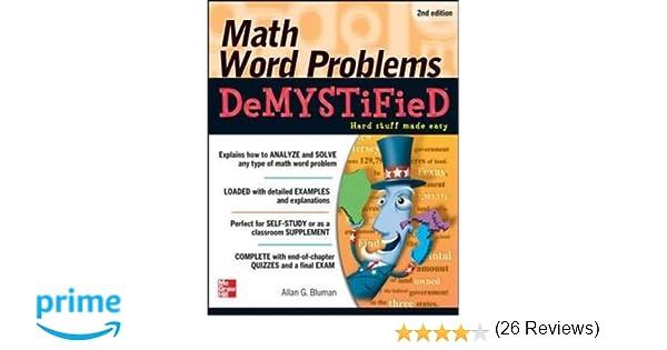Math Word Problems Demystified 2/E: Allan Bluman: 9780071763868 ...