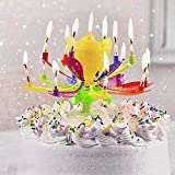 Upgrade Multicolor Rotating Lotus Cake Candle (A)