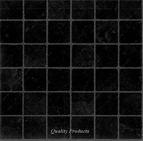 44 x Vinyl Floor Tiles - Self Adhesive - Kitchen / Bathroom Sticky - Brand New - Black Small Tile Effect Basets