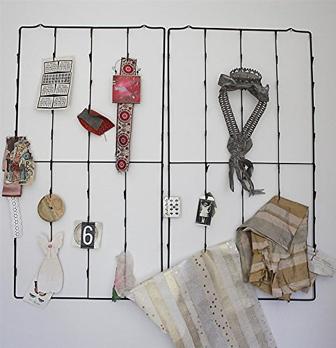 Metal Photo Card Holder Clips Wall Display Rack W/ 3 Antique Replica Postcards Country Home Store Decor by BCD