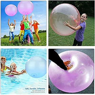 Outdoor Fun Inflatable Bubble Balls Toy, Bubble Ball Inflatable Fun Ball Amazing Tear-Resistant Super Wubble Bubble Ball Inflatable Outdoor Balls,Blue,70cm: Kitchen & Dining