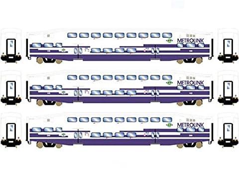 Athearn ATH25954 HO RTR Bombardier Coach, Metrolink (3) - Athearn Ho Brake