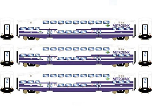 Athearn ATH25954 HO RTR Bombardier Coach, Metrolink (3)
