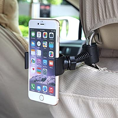"""Universal Phone Baby Kids Car Backseat Headrest Smart Phone Car Mount Stand Snap-on Holder (Phb) with 360 Degrees Rotation 65-95mm for Asus Zenfone 6 A600cg A601cg 6""""/ Zenfone 4 A400cg 3g 4""""/ Asus Padfone X Mini + Free Oxdozer Stylus Pen from OXDOZER"""