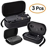 Kuuqa 3 Pcs EVA Hardshell Carrying Case Sets for DJI Mavic Pro Drone Body and Remote Controller Transmitter with Battery Carrying Case (DJI Mavic Not Included)
