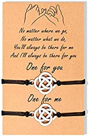 BOCHOI Pinky Promise Distance Matching Bracelets for 2 Couples Best Friend Friendship Adjustable Cord Relation