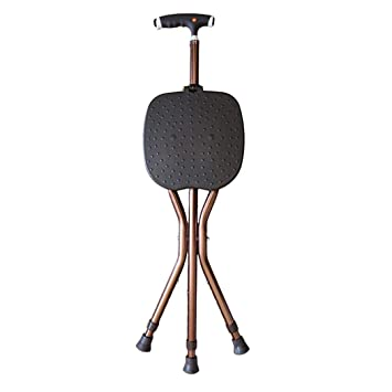 Surprising Amazon Com Zjfsx Folding Cane Seat With Led Light Portable Caraccident5 Cool Chair Designs And Ideas Caraccident5Info