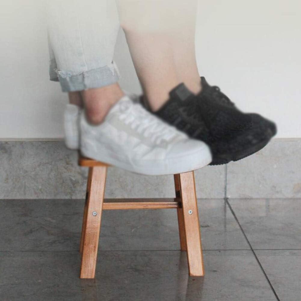 Colore: Beige Dimensioni: 25x24x17cm FFC Pouf e sgabelli poggiapiedi Imbottiti in Legno massello Portatili cambiano Le Scarpe Resistenti allUsura 2 Dimensioni