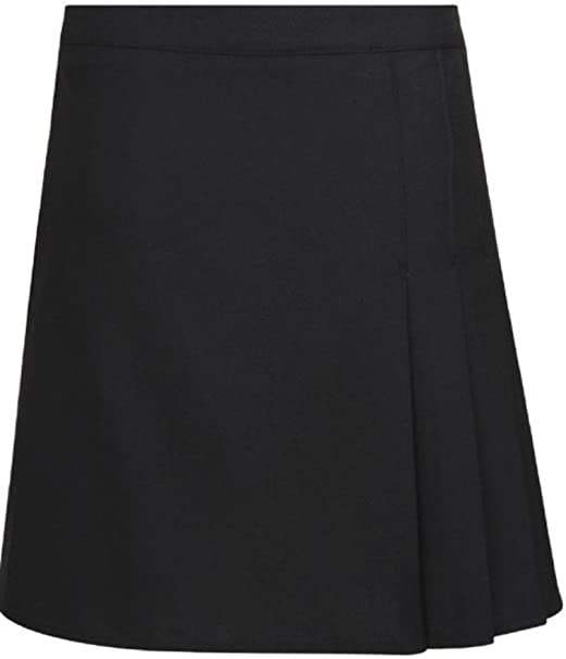 GIRLS SCHOOL SKIRTS PLEATED EX CHAINSTORE AGES 2-12 BLACK GREY AND NAVY NEW
