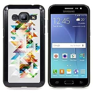 - Minimalist Colorful Polygon Pattern - - Cubierta del caso de impacto con el patr??n Art Designs FOR Samsung Galaxy J2 Queen Pattern