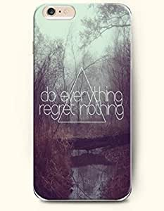 iPhone Case,OOFIT iPhone 6 Plus (5.5) Hard Case **NEW** Case with the Design of do everything regret nothing - Case for Apple iPhone iPhone 6 (5.5) (2014) Verizon, AT&T Sprint, T-mobile by icecream design