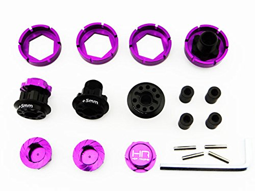HPI SAVAGE Flux X XL 21 25 SS 4.6 17mm Hex Wheel Conversion With 5mm Extensions Purple