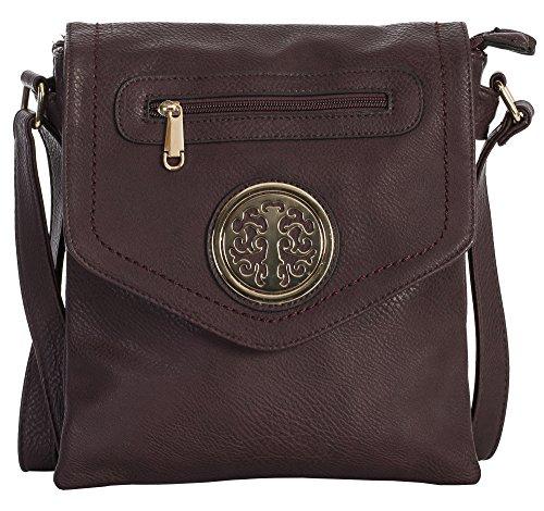 Size Medium Womens Handbag Shop Bag Big Cross 2 Messenger 5 Maroon Shoulder Body Design Compartment UPa1qwv
