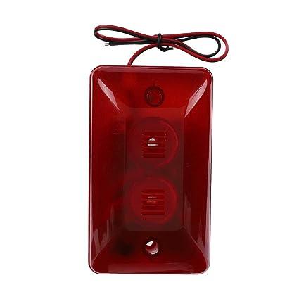 Flashing Red Light >> Amazon Com 12v 15w Wired Strobe Siren Protect Alarm System Sound