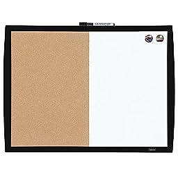 Quartet Magnetic Combination Board with Curved Frame, Cork / Dry-Erase, 17\