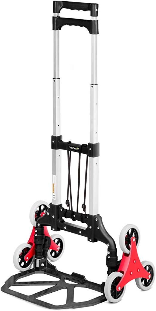 GREENCUT CAP060 - Carretilla Plegable de mano con 6 ruedas, Carro transportable para escalera carga máxima 60kg: Amazon.es: Jardín