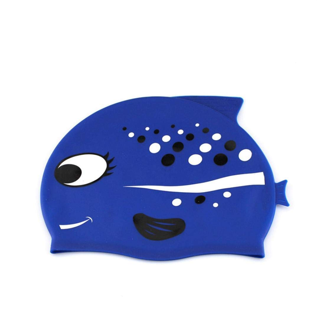 Amazon.com   WFFO Kids Swimming Hat Silicone Childrens Toddlers Swim Cap  Junior Boys Girls (B)   Sports   Outdoors 2f637455def6