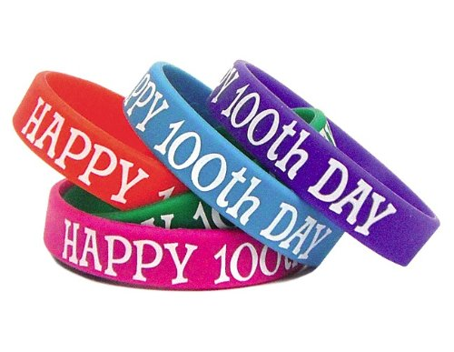 Teacher Created Resources Happy 100th Day Wristbands (6568) -