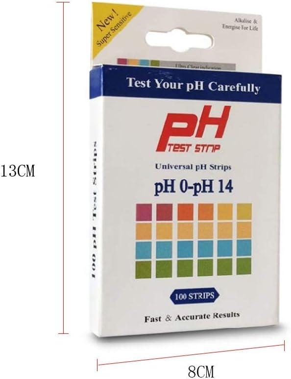 RROVE 100 pz Strisce reattive PH Scala 0-14 Carta per tornasole di qualit/à Superiore per alcalinit/à acida
