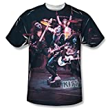 Live Show -- KISS Band All-Over Front Print Sports Fabric T-Shirt, X-Large