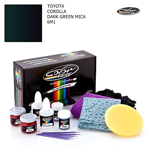 TOYOTA COROLLA / DARK GREEN MICA - 6M1 / COLOR N DRIVE TOUCH UP PAINT SYSTEM FOR PAINT CHIPS AND SCRATCHES / PRO PACK Toyota Corolla Color