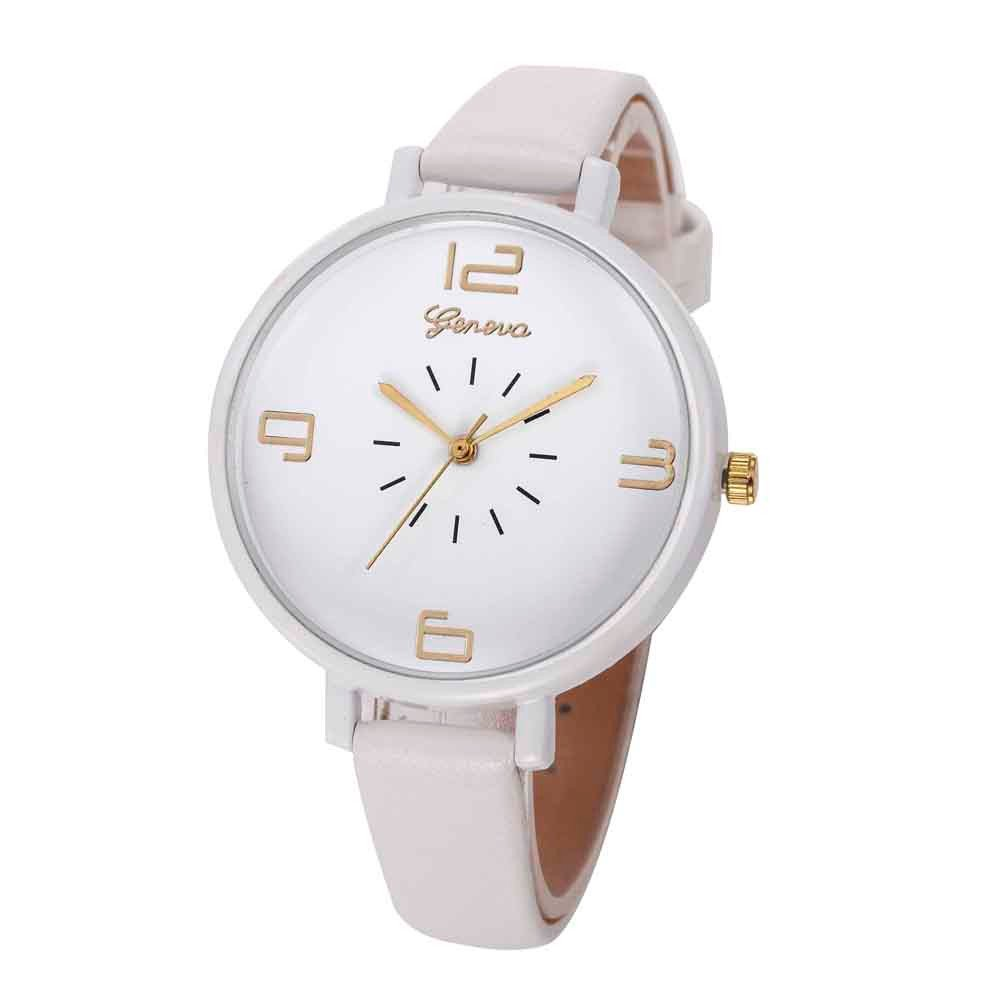 Zaidern Womens Leather Analog Watches Unique Quartz Fashion Clearance Lady Watches Female Watches on Sale Casual Wrist Watches for Women Round Dial Case Comfortable PU Leather Watch