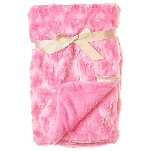 Blankets and Beyond Baby Girls Pink Rosette Swirl - Bedding Beyond