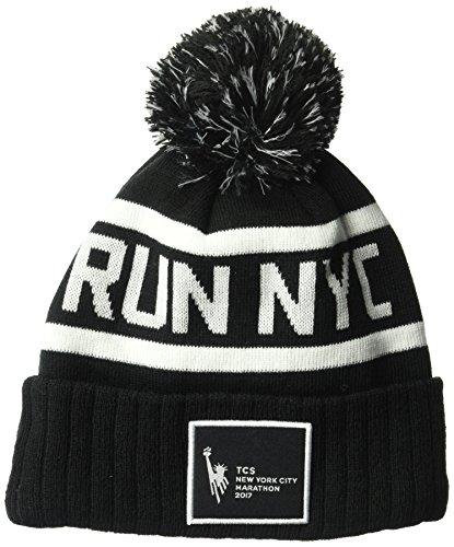 New Balance Run NYC Marathon Pom Beanie, Black, One Size