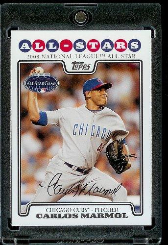 Carlos Marmol AS (All Star) Chicago Cubs 2008Topps mises à jour et vue de baseball carte Vis en duvet