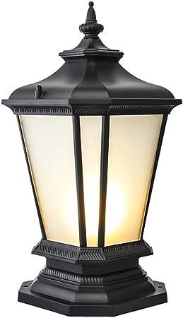 LMYMX Aluminio Farola de Jardín, Lámpara para Pilar, Iluminación E27 para Exteriores e Impermeables, Luces Decorativas para Jardín Y Terraza, Patio, Escalera, 465CM, Negro: Amazon.es: Hogar